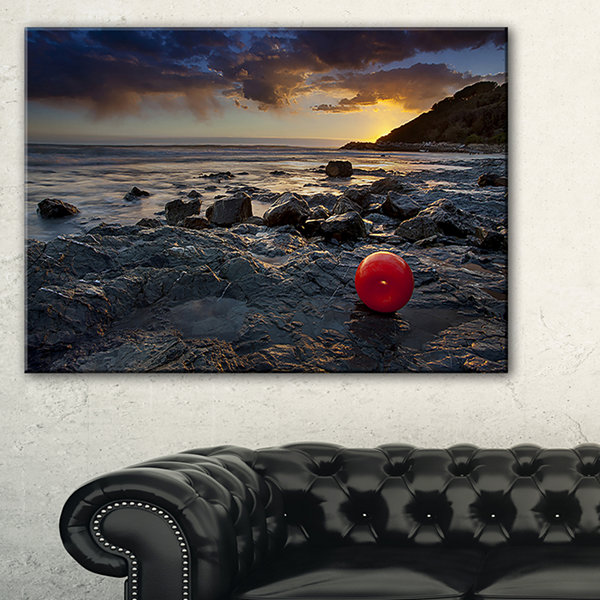 Designart Sunset At Livorno Italy Landscape Photography Canvas Art Print - 3 Panels