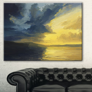 Designart Sunset Of Light And Shadows Landscape Painting Canvas Print