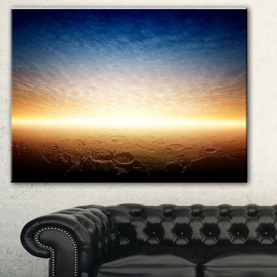 Designart Sunset On Planet Mars Spacescape CanvasArt Print - 3 Panels