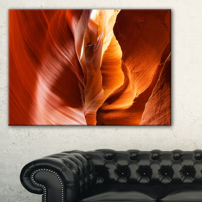 Designart Sunshine In Antelope Canyon Landscape Photo Canvas Art Print - 3 Panels