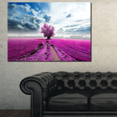 Designart Surreal Floral World Landscape Photography Canvas Art Print