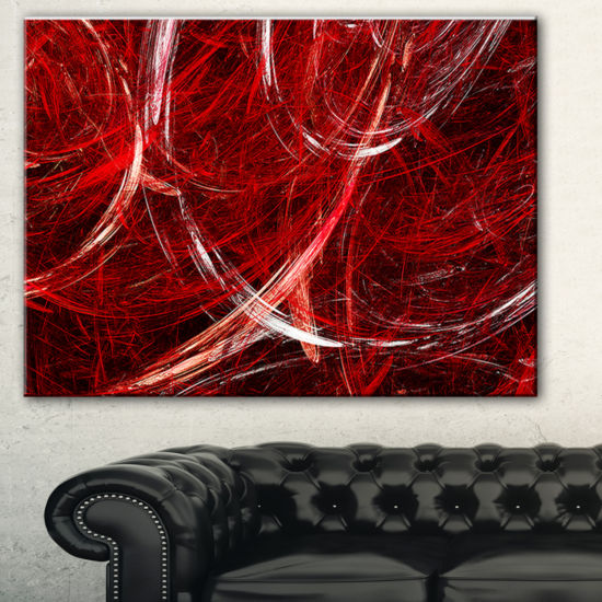 Designart Swirling Clouds Abstract Canvas Art Print