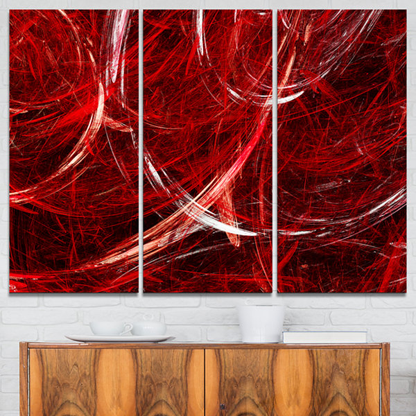 Designart Swirling Clouds Abstract Canvas Art Print - 3 Panels