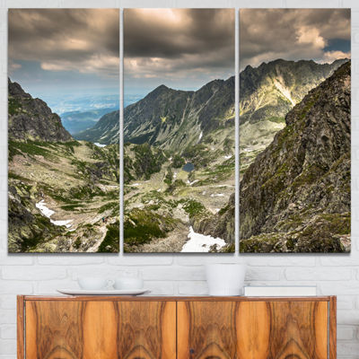 Designart Tatra Mountains From Hiking Trail Landscape Photo Canvas Art Print - 3 Panels