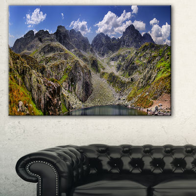 Designart Tatra Mountains Panorama Landscape PhotoCanvas Art Print