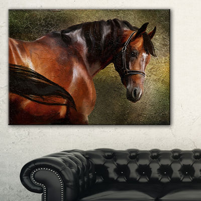 Designart The Thoroughbred Animal Photography Art-3 Panels