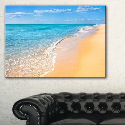 Designart Tropical Blue Sea And Sky Seashore PhotoCanvas Art Print - 3 Panels