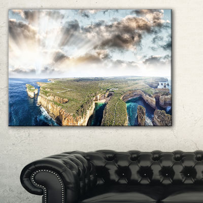 Designart Twelve Apostles Sunset Landscape Photography Canvas Art Print - 3 Panels