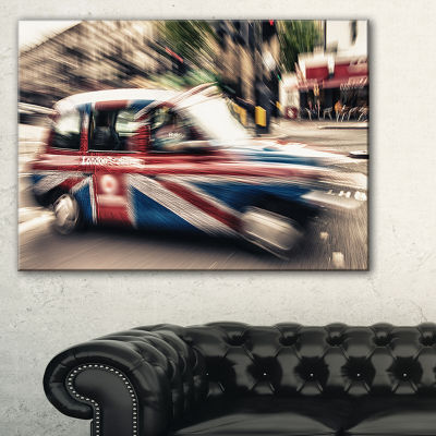 Designart Uk Cab In London Cityscape Photography Canvas Art Print