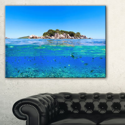 Designart Under And Above The Waters Seascape Canvas Art Print