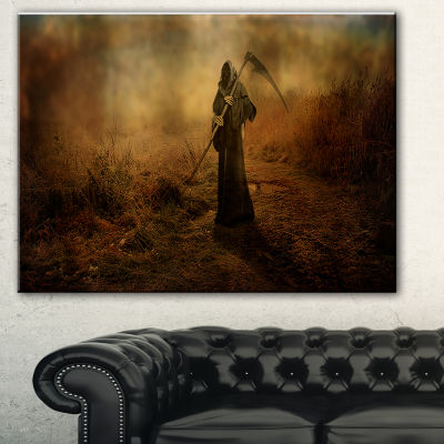 Designart Unexpected Death Abstract Canvas Art Print - 3 Panels