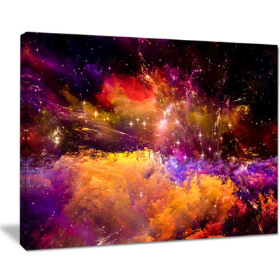 Designart Universe Fractal Burst Abstract CanvasArt Print