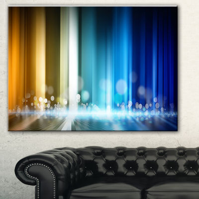 Designart Upright Glowing Lines Abstract Canvas Art Print
