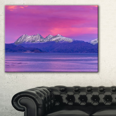 Designart Ushuaia Sunrise Argentina Beach And Shore Canvas Art Print