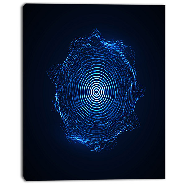 Designart Vector Illuminated Blue Shape AbstractArt