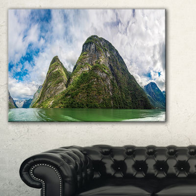 Design Art View To Sognafjord In Norway LandscapePhotography Canvas Print - 3 Panels