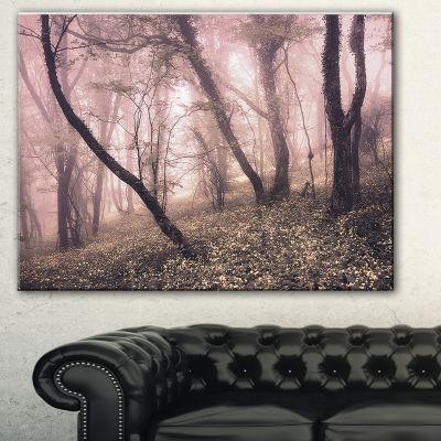 Designart Vintage Autumn Landscape Contemporary Canvas Art Print - 3 Panels