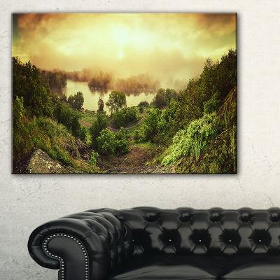 Designart Vintage Raising Landscape Photography Canvas Print
