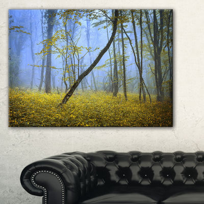 Designart Vintage Style Colorful Forest LandscapePhotography Canvas Print