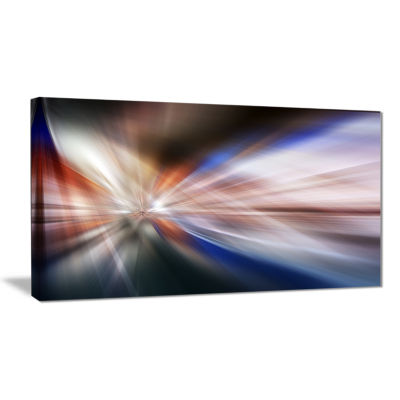 Designart White Focus Color Abstract Canvas Art Print