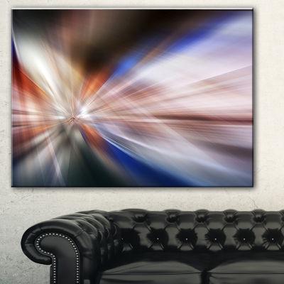 Designart White Focus Color Abstract Canvas Art Print - 3 Panels
