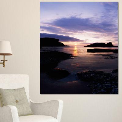 Designart White Park Bay Beach Photography CanvasArt Print