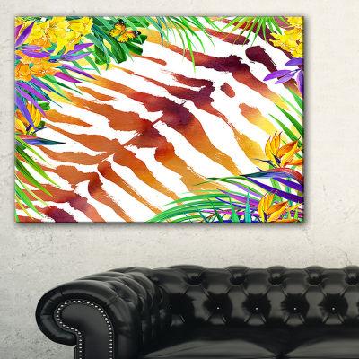 Designart Wild Nature Watercolor Landscape Painting Canvas Print - 3 Panels