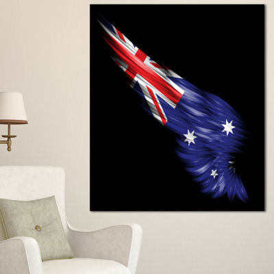 Designart Wing With Australian Flag Abstract PrintOn Canvas