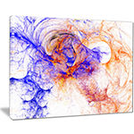 Designart Wings Of Angels Blue Abstract Canvas ArtPrint