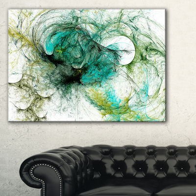 Designart Wings Of Angels Green Abstract Canvas Art Print