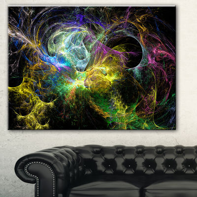 Designart Wings Of Angels Yellow Abstract Canvas Art Print