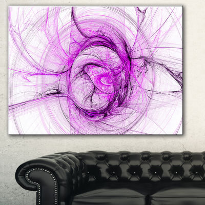 Designart Wisps Of Smoke Purple Abstract Canvas Art Print