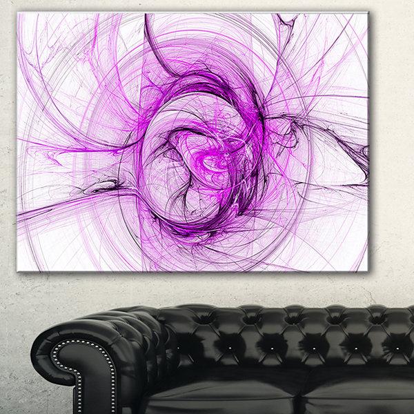 Designart Wisps Of Smoke Purple Abstract Canvas Art Print - 3 Panels