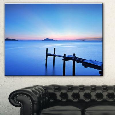 Designart Wooden Pier In Blue Sea Seascape CanvasArt Print