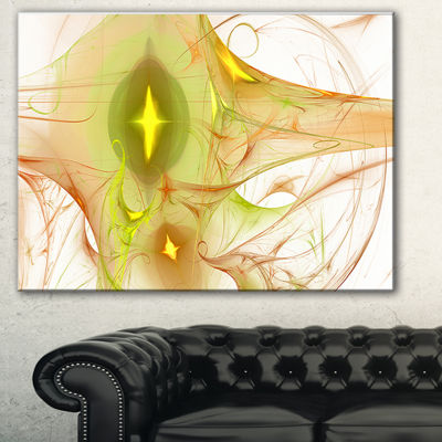 Designart Yellow Bright Candle Abstract Canvas ArtPrint