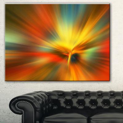 Designart Yellow Focus Color Abstract Canvas ArtPrint