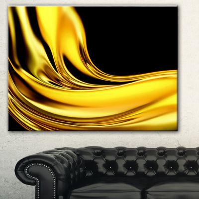 Designart Yellow Gold Texture Pattern Abstract Canvas Art Print - 3 Panels