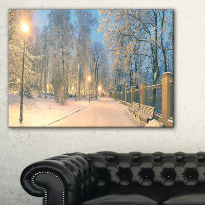 Designart Yellow Seats In Mariinsky Garden Landscape Photography Canvas Print