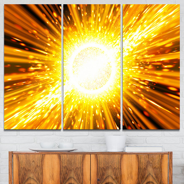 Designart Bing Bang Explosion Spacescape Canvas Art Print - 3 Panels