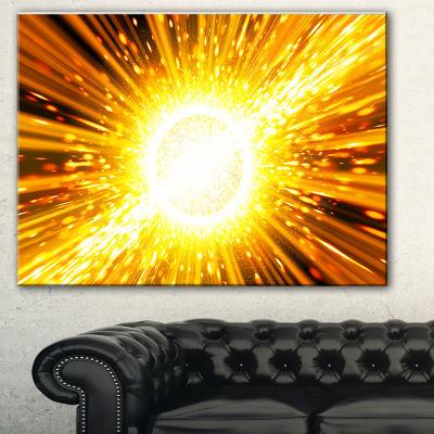 Designart Bing Bang Explosion Spacescape Canvas Art Print - 3 Panels