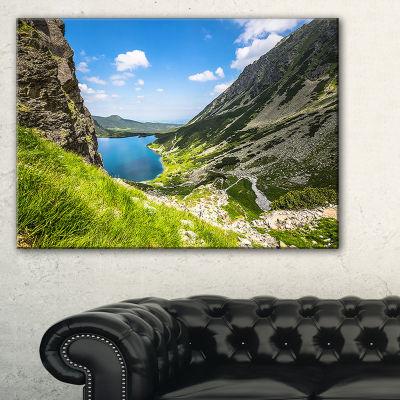 Designart Black Pond Gasienicowy Landscape PhotoCanvas Art Print