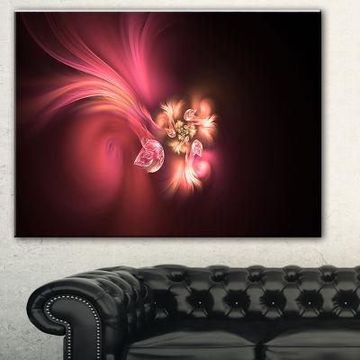 Designart Blooming Fractal Flower Magenta FloralArt Canvas Print