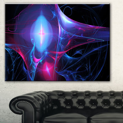 Designart Blue Bright Candle Abstract Canvas Art Print