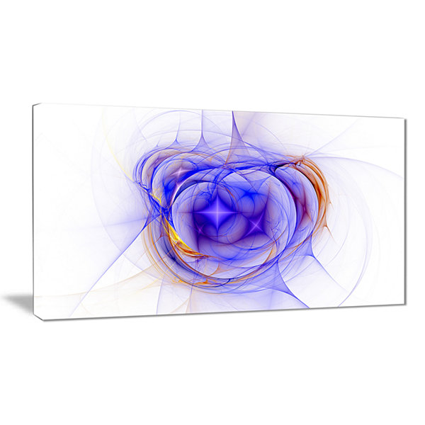 Design Art Blue Bright Star Nebula Abstract CanvasArt Print