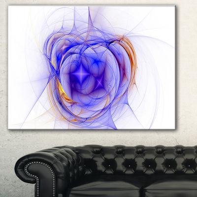 Designart Blue Bright Star Nebula Abstract CanvasArt Print - 3 Panels