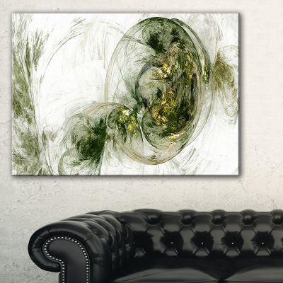 Designart Colored Smoke Green Abstract Canvas ArtPrint