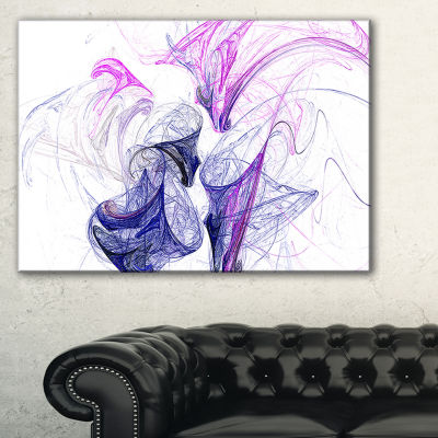 Designart Colored Smoke Purple Abstract Canvas ArtPrint