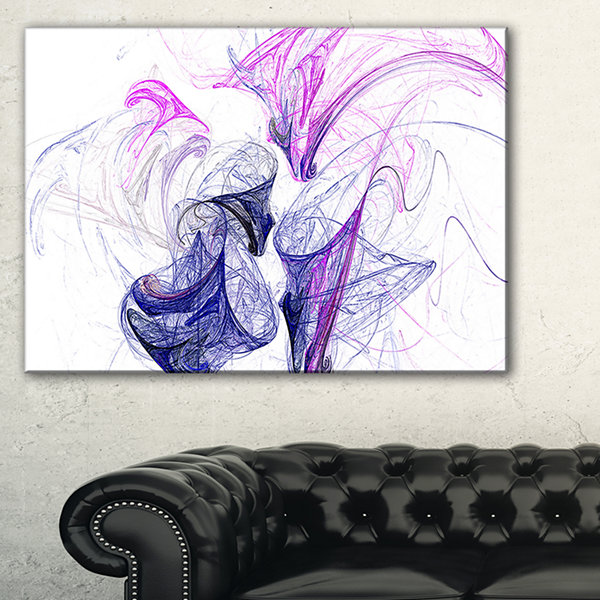 Design Art Colored Smoke Purple Abstract Canvas ArtPrint