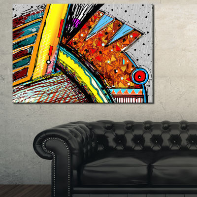 Designart Colorful Abstract Illustration AbstractCanvas Art Print
