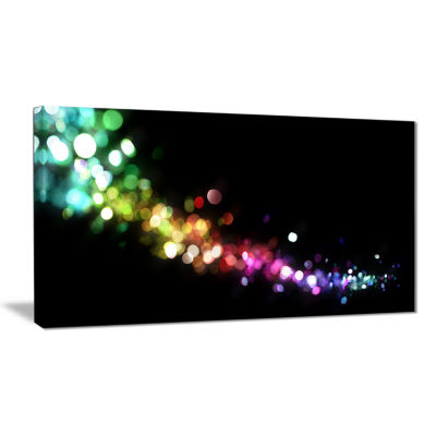 Designart Colorful Abstract Lighting Abstract Canvas Art Print